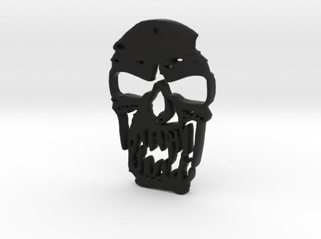 Outlaw Skull Keyring in Black Natural Versatile Plastic