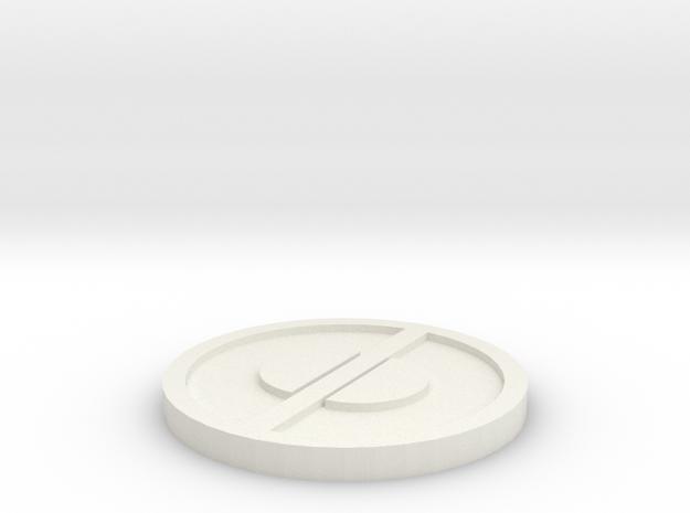 Deadpool Emblem in White Natural Versatile Plastic
