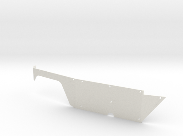Right Body Panel (Type T) for Micro Shark in White Natural Versatile Plastic