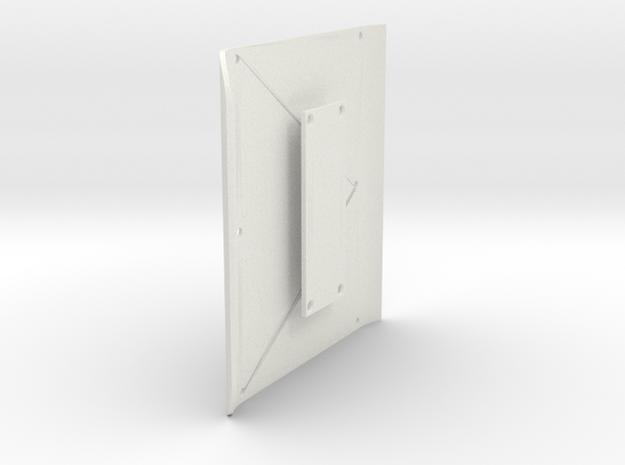Roof + Rear Panel for Micro Shark in White Natural Versatile Plastic