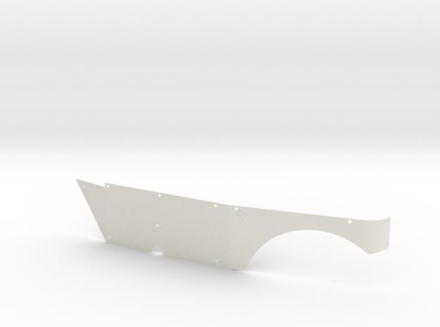Left Side Panel (Type S) for Micro Shark in White Natural Versatile Plastic