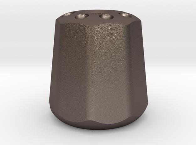 Salt&Pepper : Begleri Bead  in Polished Bronzed-Silver Steel