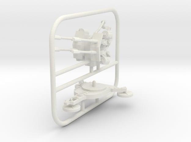 1/72 3cm Flakvierling 103/38 in White Natural Versatile Plastic