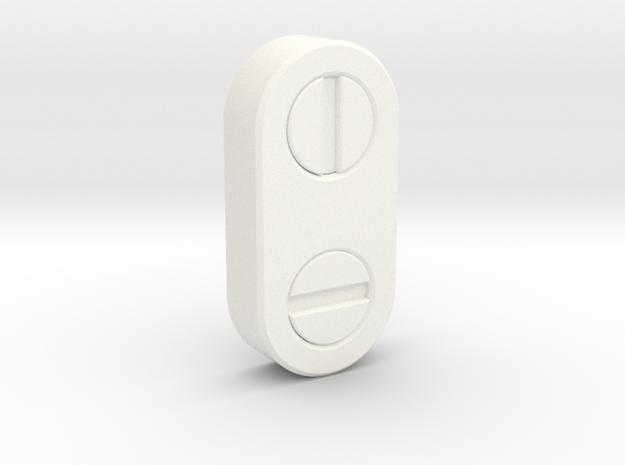Head Bolt in White Processed Versatile Plastic