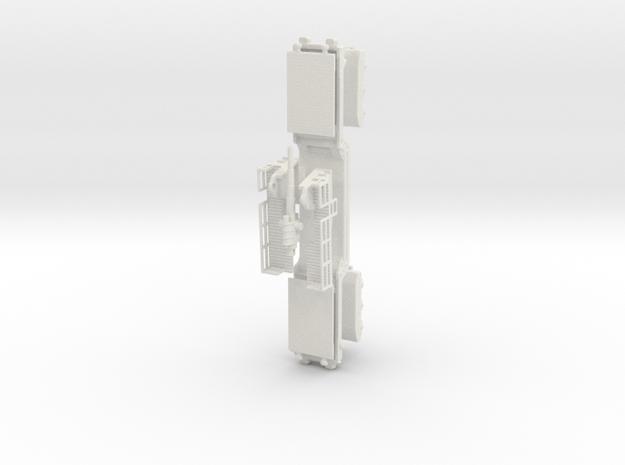 15 cm kanone eisenbahnlafette 1/87 ho rail gun kit