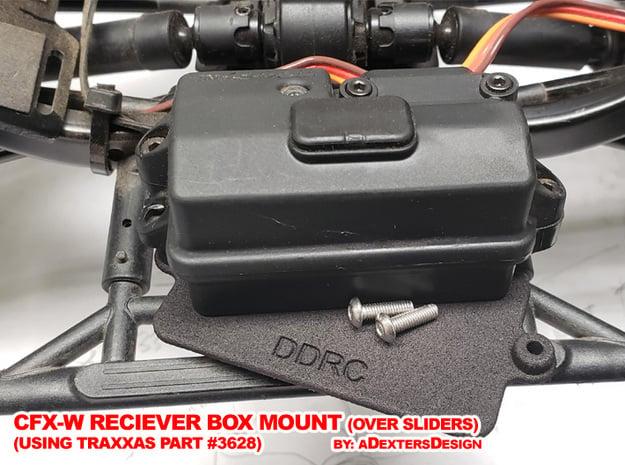 CFX-W  RECEIVER BOX MOUNT in Black Natural Versatile Plastic