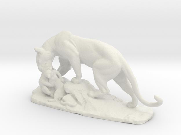 Lion Family in White Natural Versatile Plastic