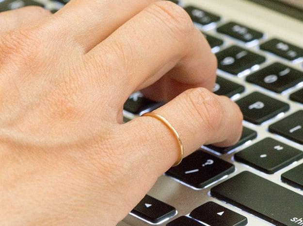 Minimalist Single Band Ring Size 6 in Polished Bronze