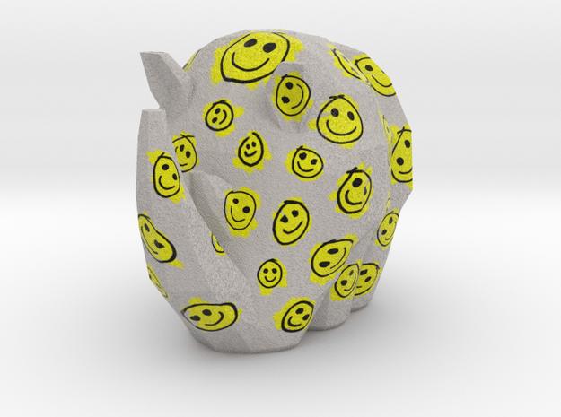 Cammo Rhino - Smileys in Natural Full Color Sandstone: Small