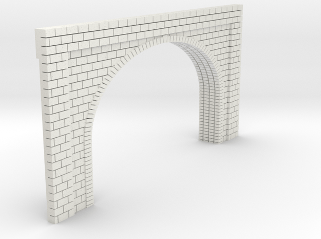 N Scale Tunnel Entrance Double Track 1:160 in White Natural Versatile Plastic
