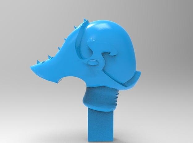 Dark Eldar - Space Eld - Reaver Helm with Fin x10 in Smooth Fine Detail Plastic
