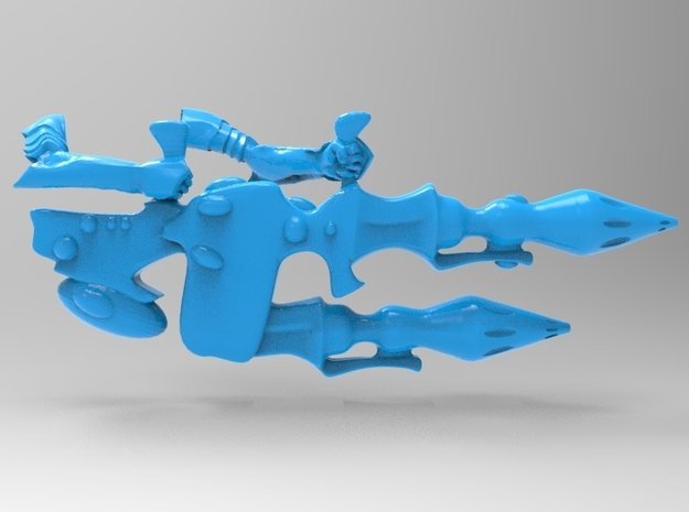 Space Elf Eldar Dark Reaper Cannon x4 Exarch x1 in Smooth Fine Detail Plastic