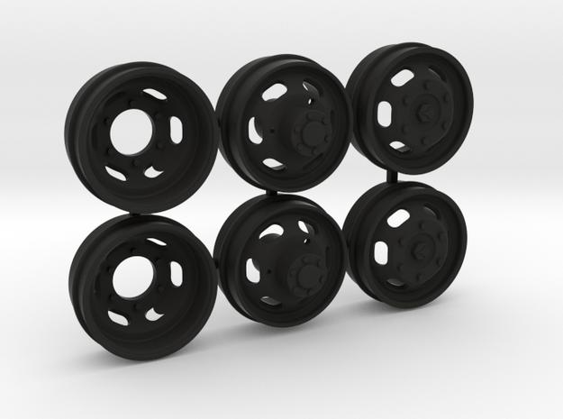 MB 407 velgset voor Schuco 1:16 in Black Natural Versatile Plastic