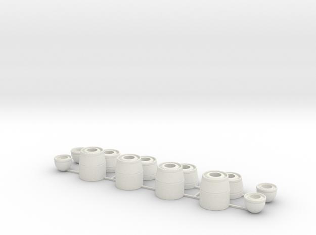 zwaailichtvoet set 10 in White Natural Versatile Plastic