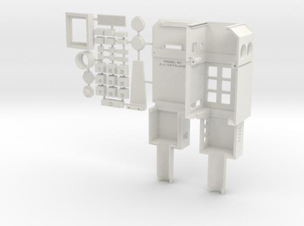 COMMLOCK ASSEMBLY MODEL  in White Natural Versatile Plastic