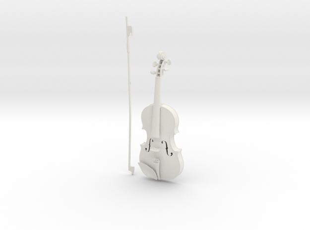 1/3rd scale Violin in White Natural Versatile Plastic