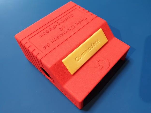 Chameleon 64 - Docking Station v2 Housing (body) in Red Processed Versatile Plastic