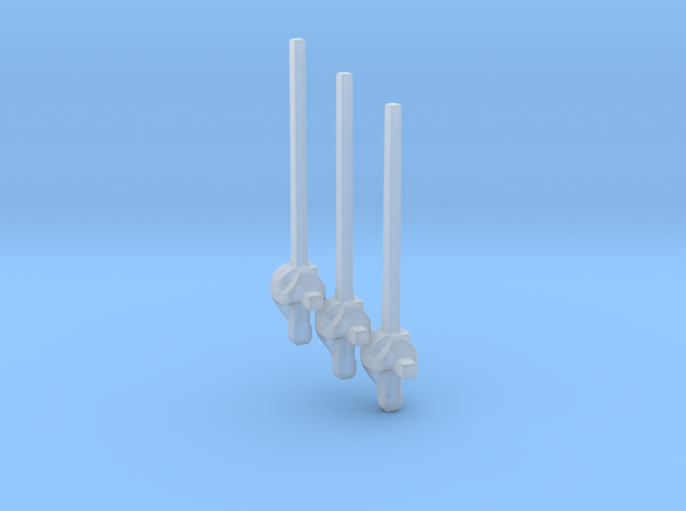 Rapiers for 28mm/35mm minis - 3 pieces in Smooth Fine Detail Plastic