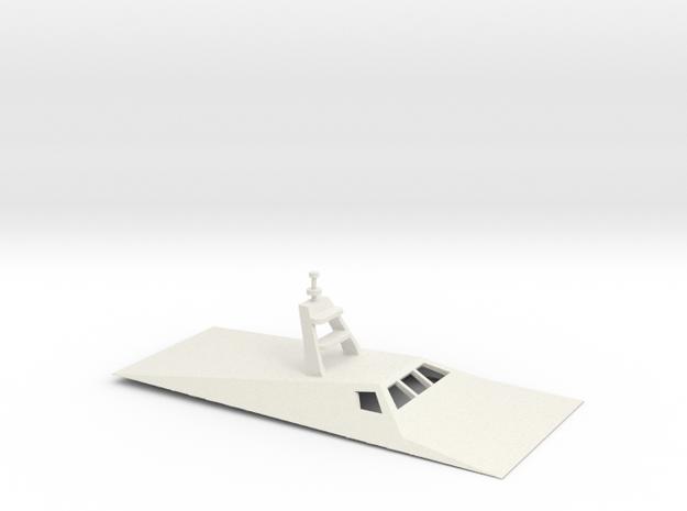 1/72 Scale M-80 Stiletto Patrol Boat.Bridge in White Natural Versatile Plastic