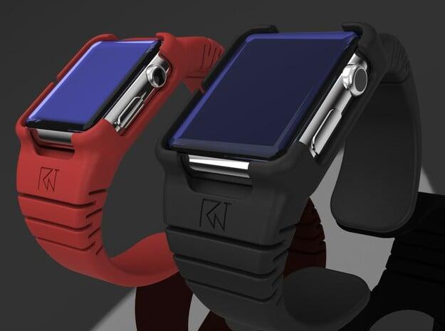 Apple Watch - 44mm medium cuff in Black PA12