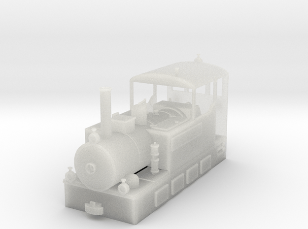 Freelance H0e model tramway loco - n.2 in Smooth Fine Detail Plastic