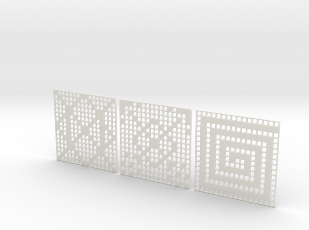 Patterns Coasters in White Natural Versatile Plastic