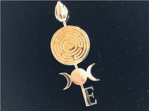 Hecate's Key in Polished Brass