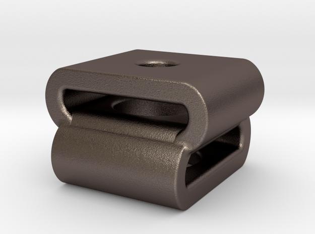 Interlock : Begleri Bead (V1) in Polished Bronzed-Silver Steel
