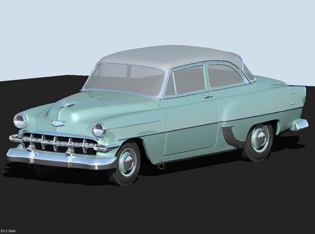 1954 Chevy 2 Door 210 in White Natural Versatile Plastic