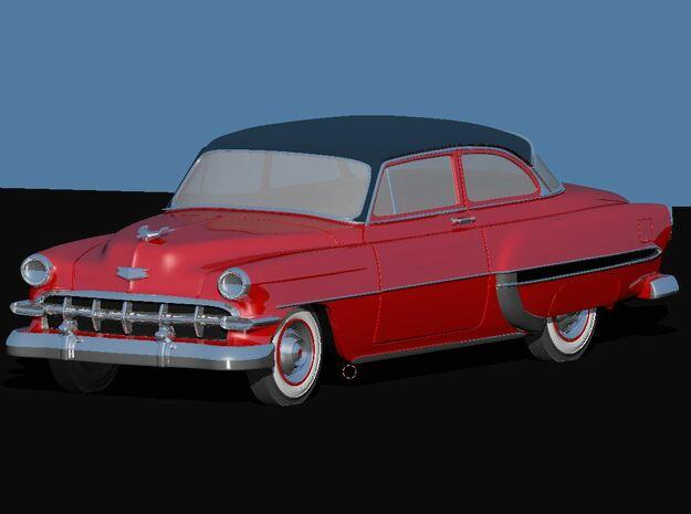 1954 Chevy 2 Door Bel-air in White Natural Versatile Plastic