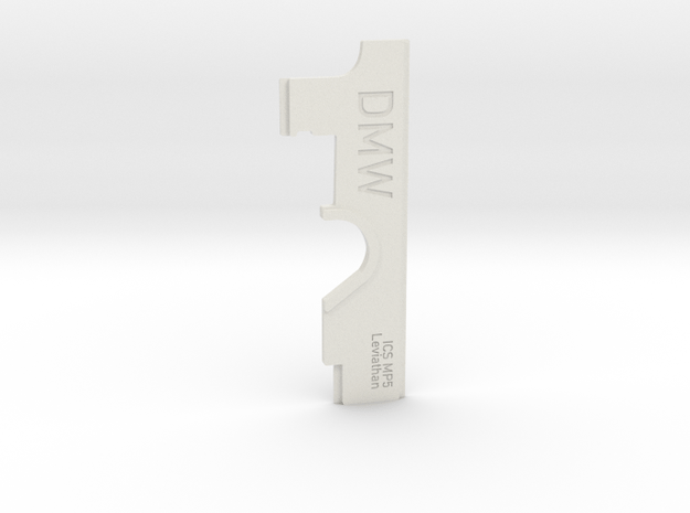 Selector plate for ICS MP5 with Leviathan in White Natural Versatile Plastic