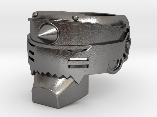 Fullmetal Alchemist: Alphonse Ring in Polished Nickel Steel: 8 / 56.75