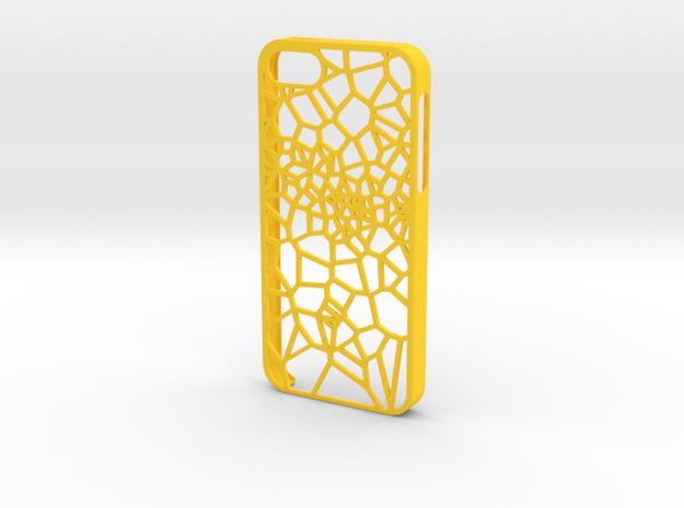 iPhone 5/5s Fracture Case in Yellow Processed Versatile Plastic