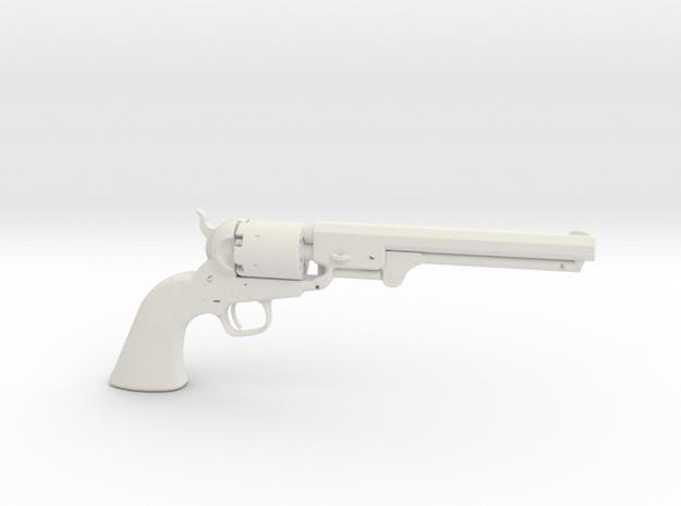 1/3 Scale Colt 1851 Navy Revolver in White Natural Versatile Plastic