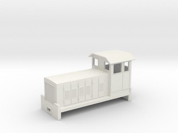 "HOn30 Australian Cane Locomotive 2 ""Amye"" in White Natural Versatile Plastic"