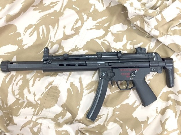 Handguard for ICS MP5 airsoft SMG in White Natural Versatile Plastic