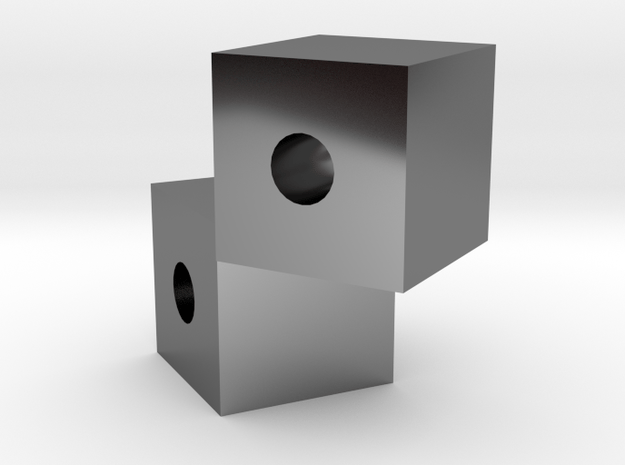 Cube Cubed in Fine Detail Polished Silver