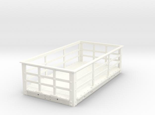 RSQB01 Rhosydd Iron Slate Wagon Body (SM32) in White Processed Versatile Plastic