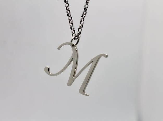Moniker M in 14k White Gold
