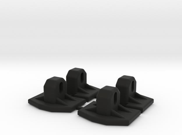 Magirus Set voetplaten in Black Natural Versatile Plastic