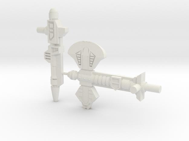 Titans Return Broadside Weapons in White Natural Versatile Plastic
