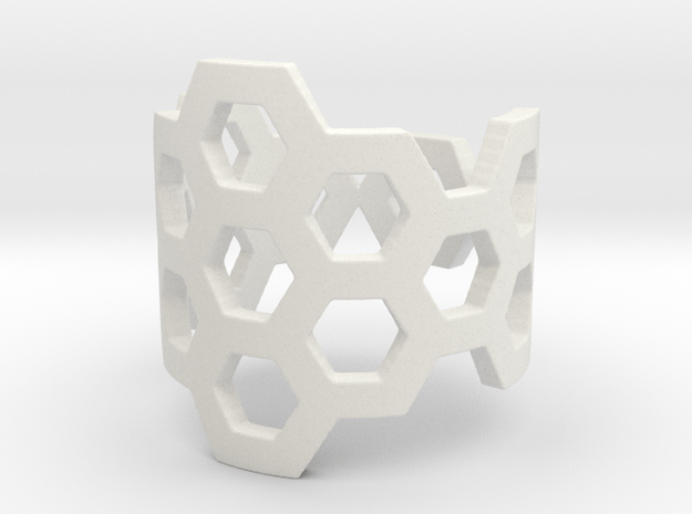 Polyaromatic Hydrocarbon Ring (Size 7) in White Natural Versatile Plastic