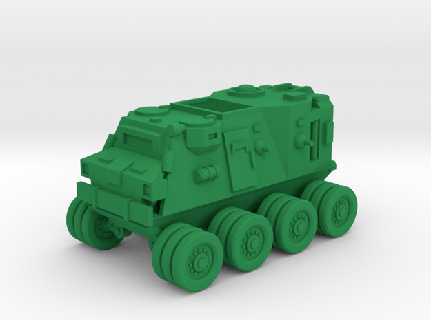 15mm SciFi Halberd wheeled vehicle in Green Processed Versatile Plastic