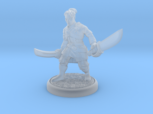 Sword fighter in Smoothest Fine Detail Plastic