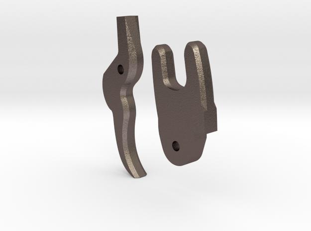 Wheelock Mechanism Standard Trigger in Polished Bronzed-Silver Steel