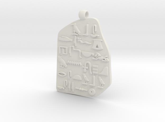 Hieroglyph in Rosetta Stone in White Natural Versatile Plastic