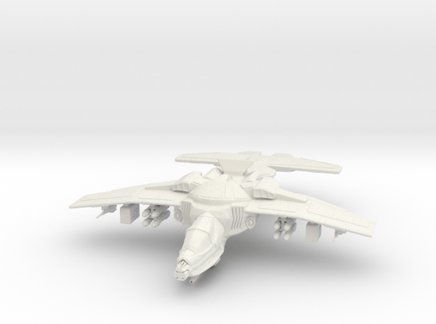 Erinyes Gunship, 15mm in White Natural Versatile Plastic