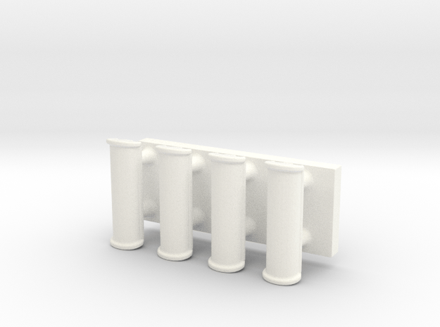 Handles for cupboard, drawer, etc. 1:12 in White Processed Versatile Plastic