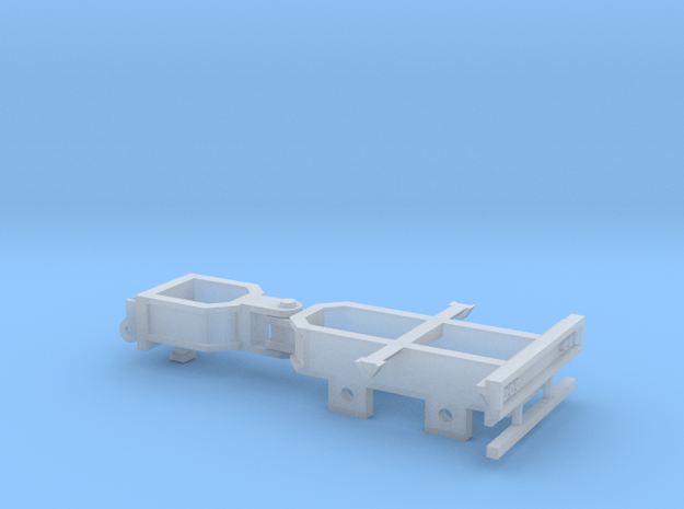Booster Dolly - 2 Axle in Smooth Fine Detail Plastic