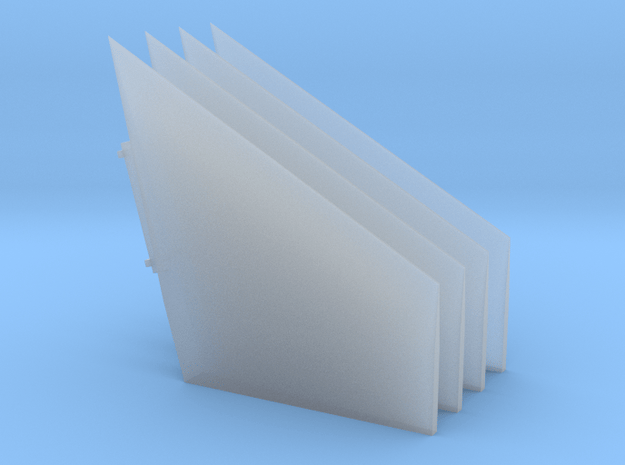 Saturn V S-IC Fairing Fins in Smoothest Fine Detail Plastic